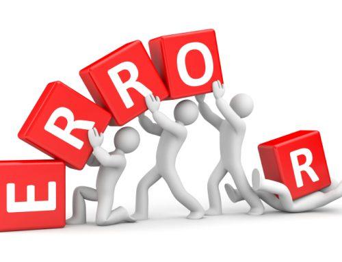 Errores en la red: 5 ejemplos que tendrás que evitar