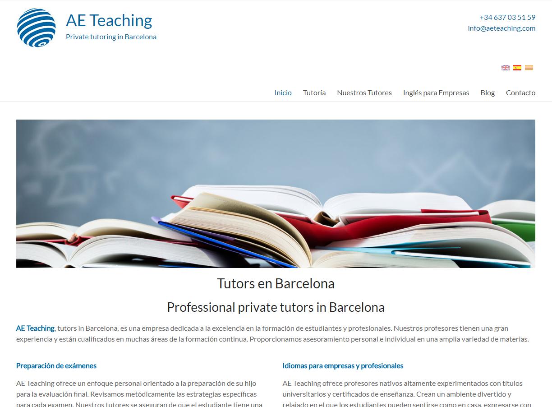 AE Teaching – Tutors in Barcelona